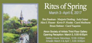 Akron Society of Artists has new show in Gallery A, opening Friday, March 3, 5-8 pm, free