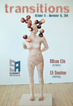 Transitions: Allison Elia, Ceramics & Eli Donahue, Paintings
