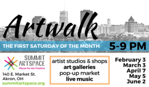 Artwalk at Summit Artspace, Northside Market and Zeber-Martell Studios, Saturday, April 7, 5-9 pm; free!