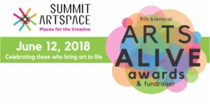 Join Summit Artspace for Arts Alive Awards and Fundraiser June 12 to celebrate contributions to local arts and culture; 16 categories for nominations; May 11 deadline