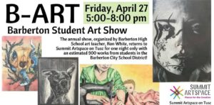 Annual Barberton student art show takes over Summit Artspace on Tusc for one night only, Friday, April 27