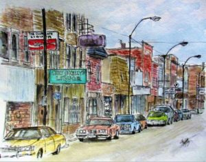 "A chief, the ""Jeep"" and a city's history in watercolors; all part of a show at Summit Artspace on Tusc that runs through July 14"