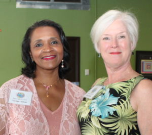 Honorary Co-chairs Teresa LeGrair of the Akron Community Foundation and Wendy Bolas of Leadership Akron