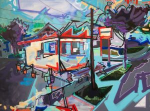 Travel with artist Lizzi Aronhalt to the neighborhoods she knows in Akron; opening is Friday, July 13, 5-8 pm; show runs through August 18, 2018