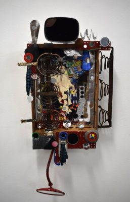 mirror, mirror...by Gen Waight First Place assemblage of found objects
