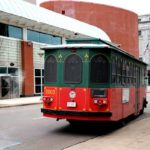 Photo of downtown Akron trolley in use for 3rd Thursday