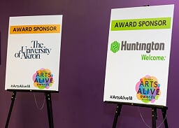 Arts Alive Sponsors: The University of Akron and Huntington Bank