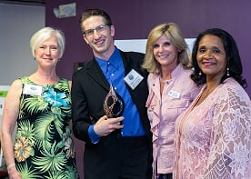 Daniel Highfield was honored as Outstanding Artist in Dance