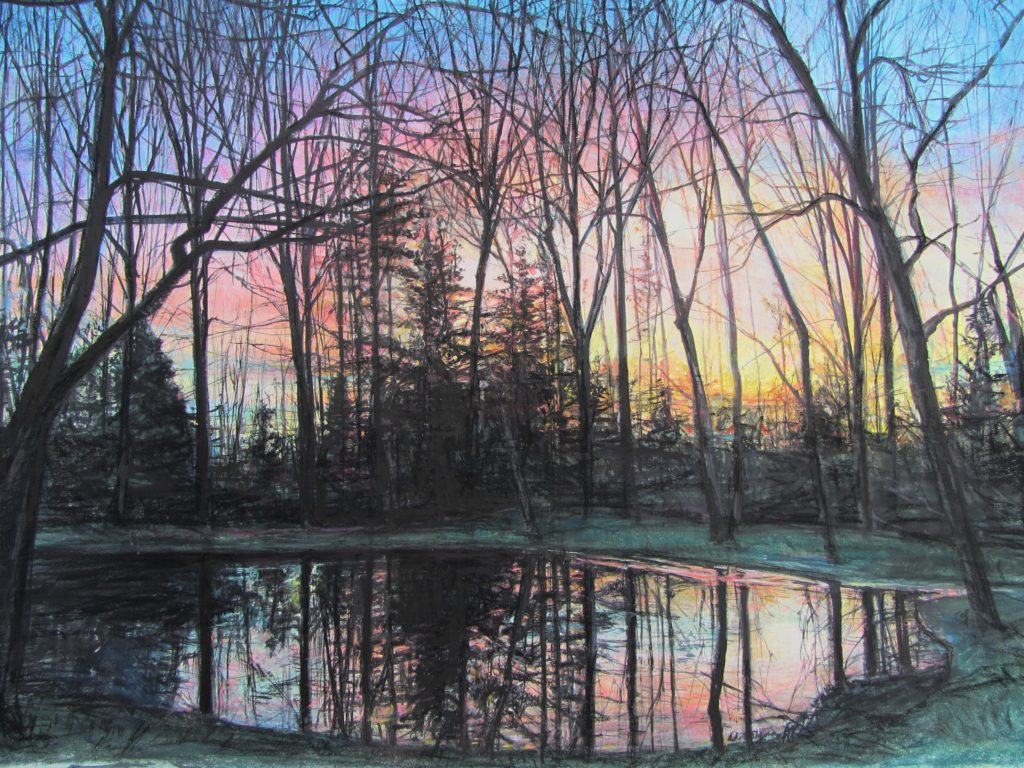 Prism-sunset pond by Julie DiSiena, People's Choice Award