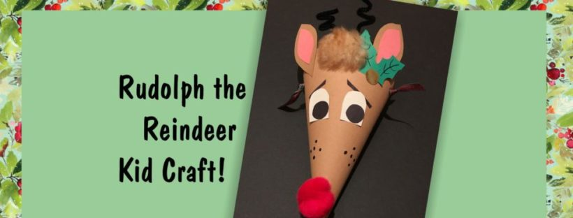 image of reindeer craft for Kaleidoscope workshop