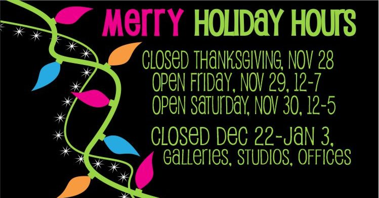 Holiday Hours 2019