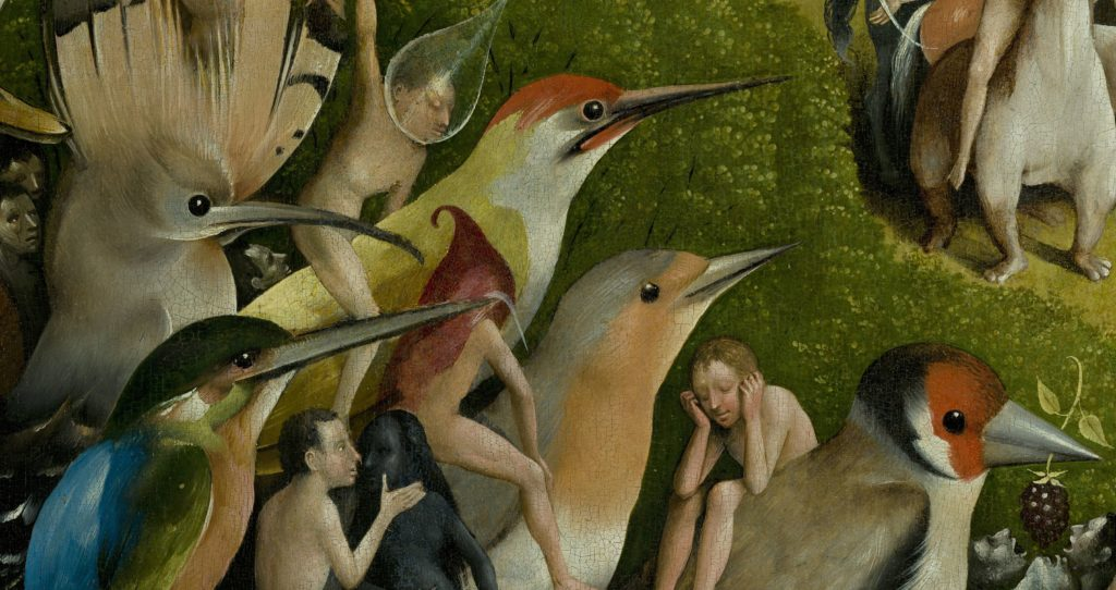 Boschian Detail from Garden of Earthly Delights by Hieronymus Bosch