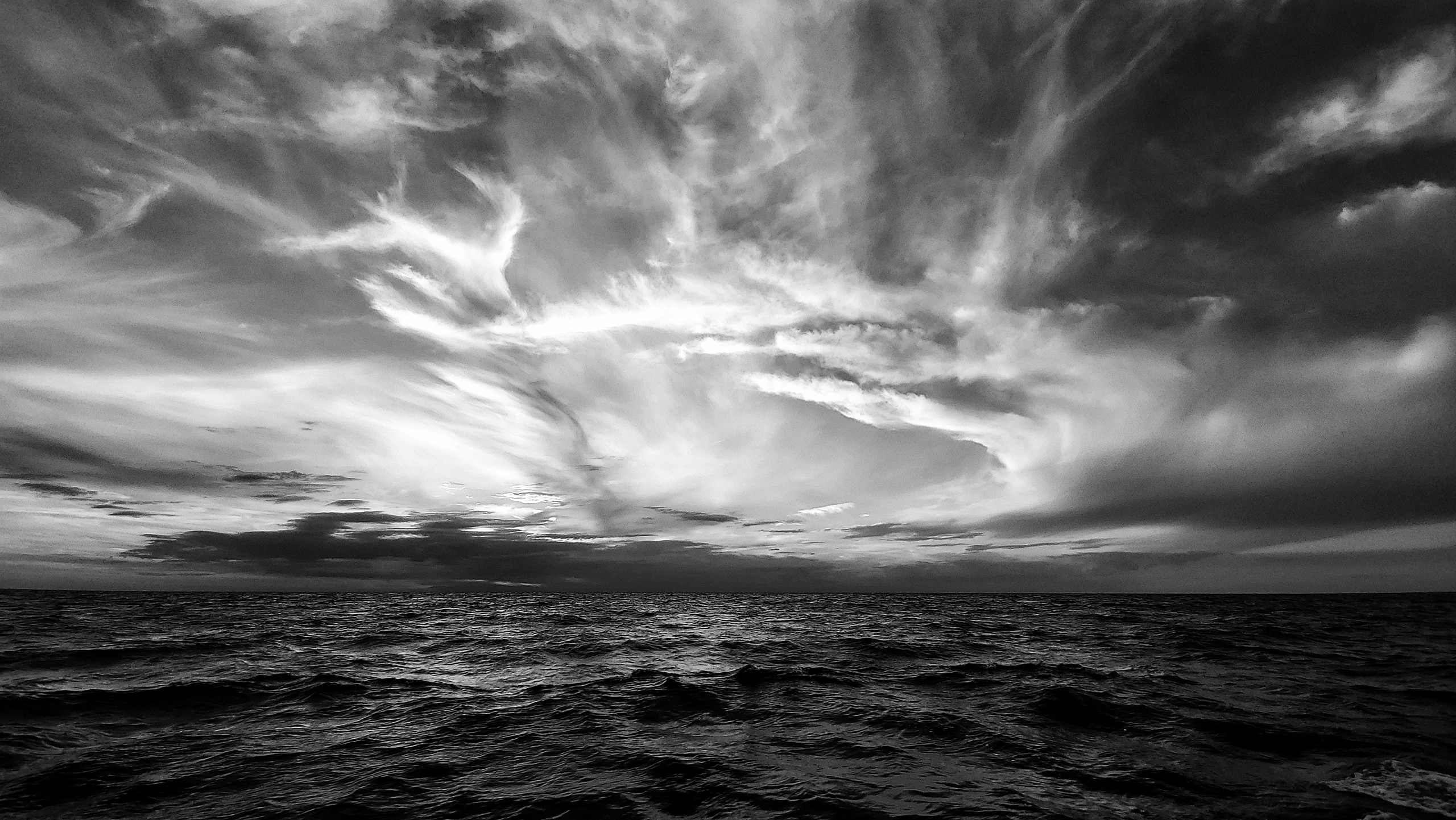 """Dancing Cirrus Clouds on Lake Erie"" by Charity Hockenberry"